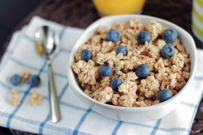 blueberry bowl breakfast cereal