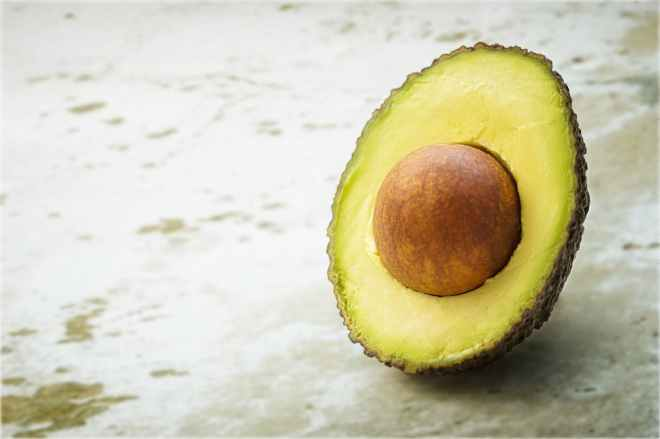avocado blur close up focus